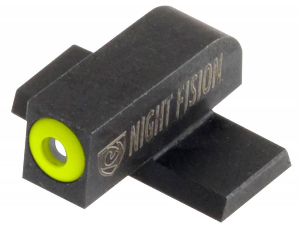 Night Fision SPR226007YGW Night Sight Set Square Front/U-Notch Rear Springfield XD/XD(M)/XD-M2 Green Tritium w/Yellow Outline Front Green Tritium w/White Outline Rear Black