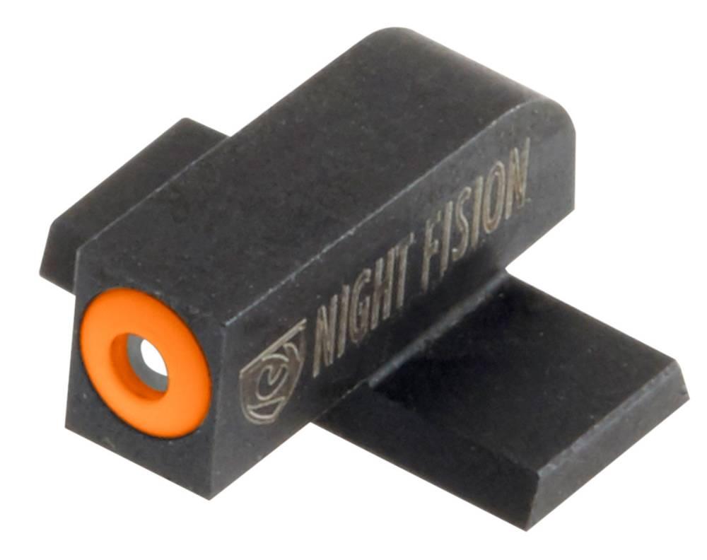 Night Fision SPR228003OGW Night Sight Set Square Springfield XD-S/XD-E Green Tritium w/Orange Outline Front Green Tritium w/White Outline Rear Black