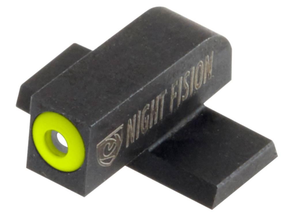 Night Fision SPR228003YGW Night Sight Set Square Springfield XD-S/XD-E Green Tritium w/Yellow Outline Front Green Tritium w/White Outline Rear Black