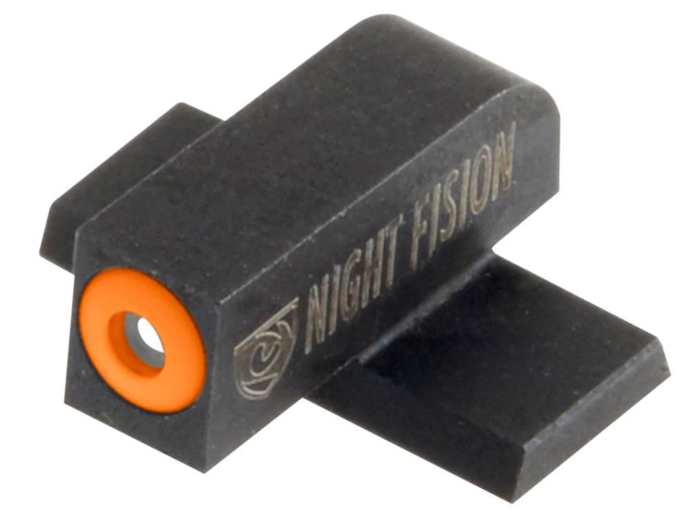 Night Fision SPR228007OGW Night Sight Set Square Front/U-Notch Rear Springfield XD-S/XD-E Green Tritium w/Orange Outline Front Green Tritium w/White Rear Black
