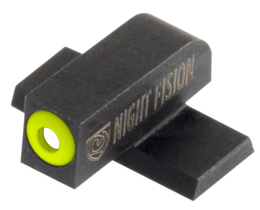 Night Fision SPR228007YGW Night Sight Set Square Front/U-Notch Rear Springfield XD-S/XD-E Green Tritium w/Yellow Outline Front Green Tritium w/White Outline Rear Black