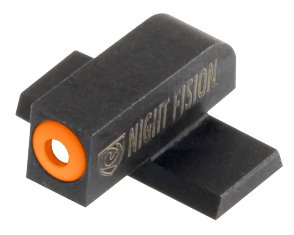 Night Fision SPR228007OGZ Night Sight Set Square Front/U-Notch Rear Springfield XD-S/XD-E Green Tritium w/Orange Outline Black