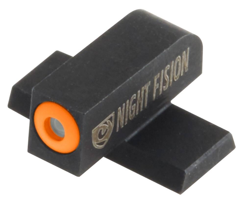 Night Fision SIG176003OGW Night Sight Set Square Sig Sauer 40/45 Green Tritium w/Orange Outline #6 Front Green Tritium w/White Outline #8 Rear Black
