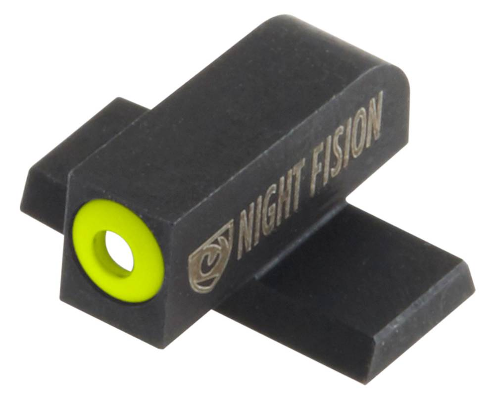 Night Fision SIG177003YGW Night Sight Set Square SIg Sauer 9mm/357 Green Tritium w/Yellow Outline #8 Front Green Tritium w/White Outline #8 Rear