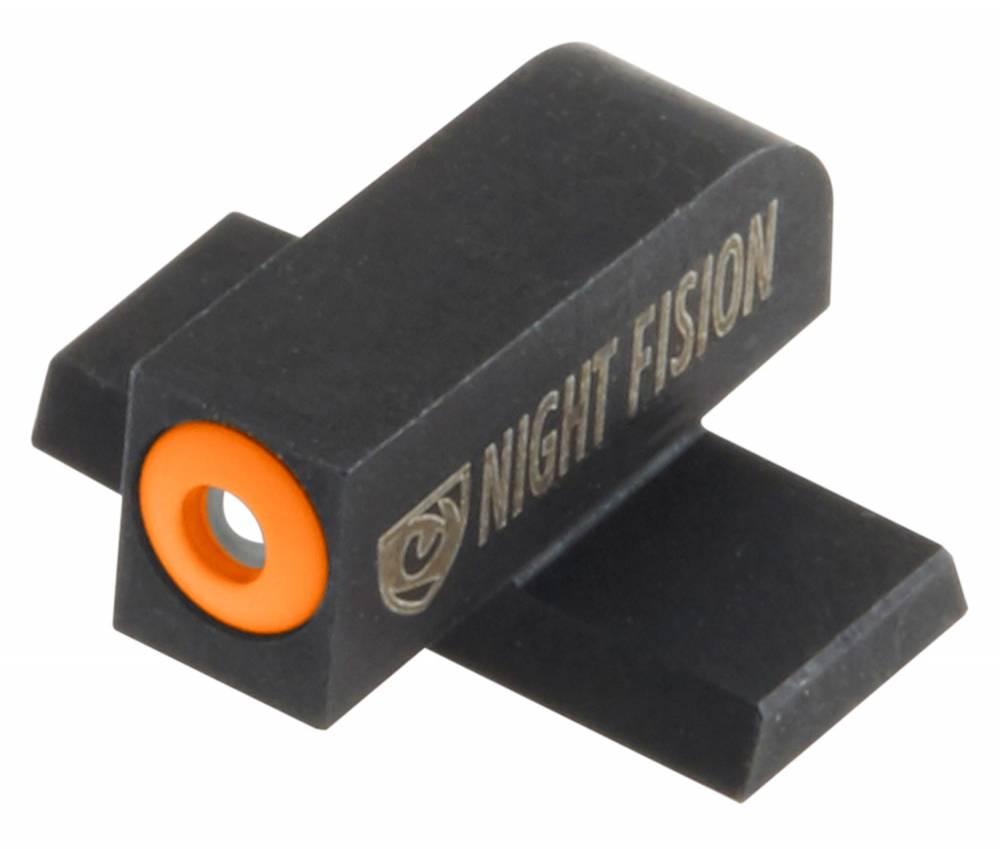 Night Fision SIG177003OGZ Night Sight Set Square SIg Sauer 9mm/357 Green Tritium w/Orange Outline #8 Front Black #8 Rear