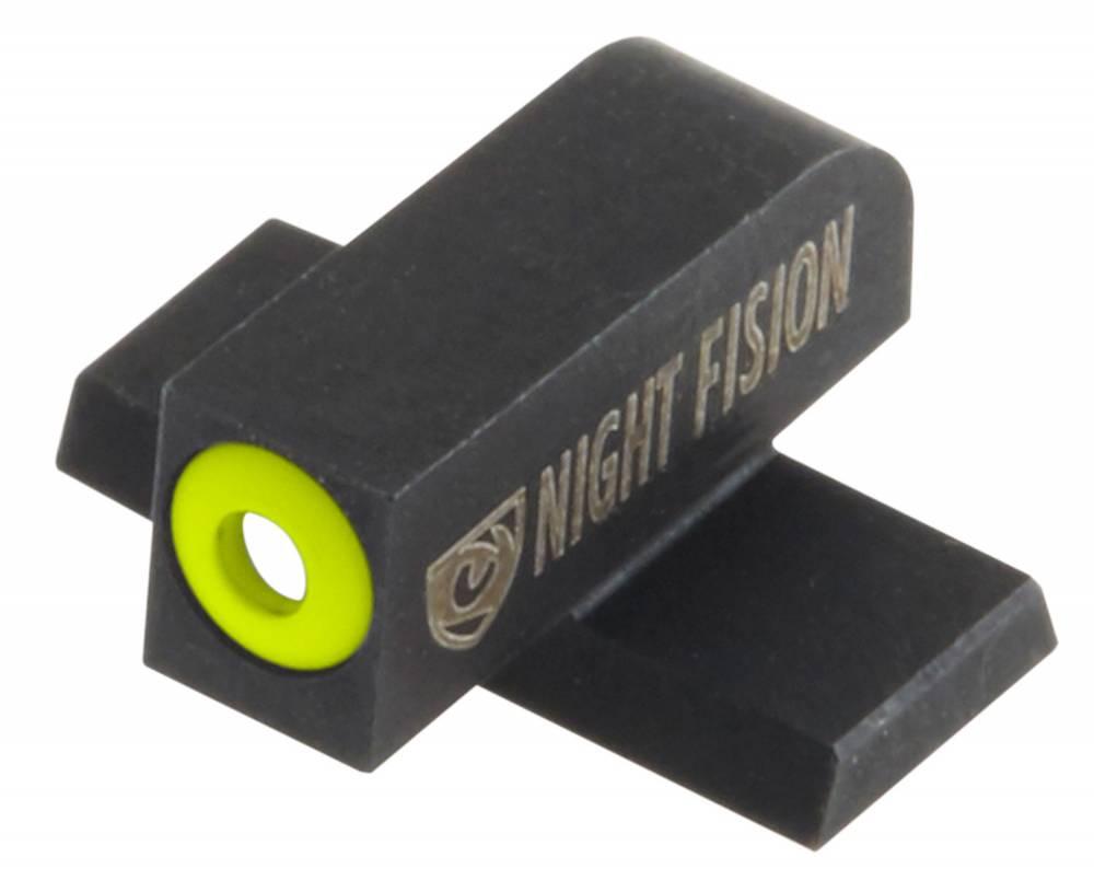 Night Fision SIG177007YGW Night Sight Set Square Front/U-Notch Rear SIg Sauer 9mm/357 Green Tritium w/Yellow Outline #8 Front Green Tritium w/White Outline #8 Rear