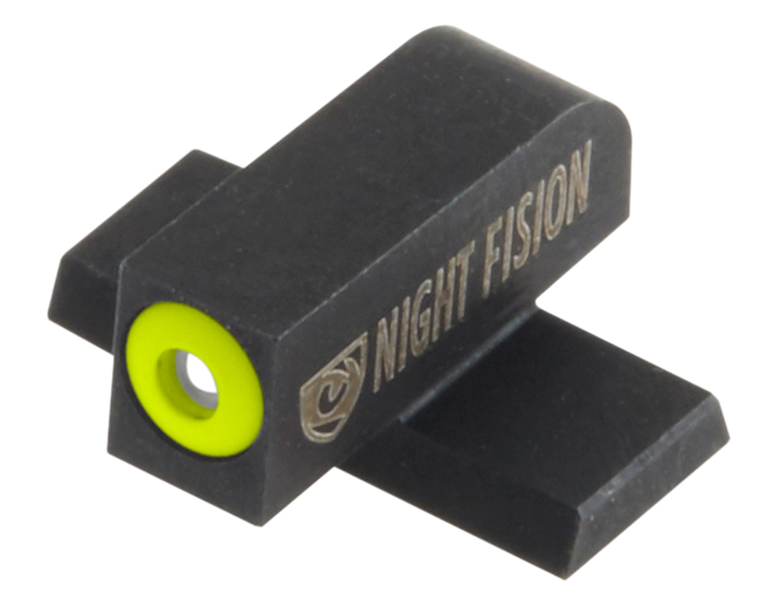 Night Fision SIG177007YGZ Night Sight Set Square Front/U-Notch Rear SIg Sauer 9mm/357 Green Tritium w/Yellow Outline #8 Front Black #8 Rear