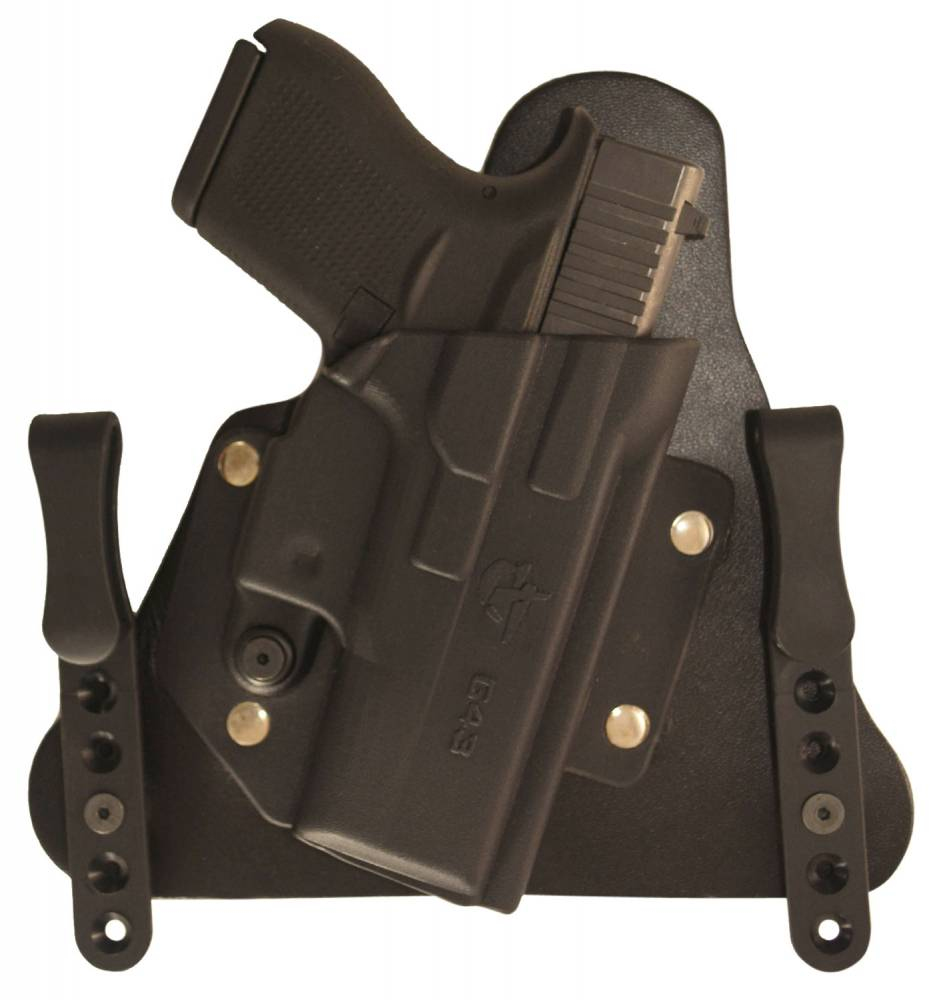 Comp-Tac Cavalry IWB Compatible with Glock 43 Kydex/Leather Black