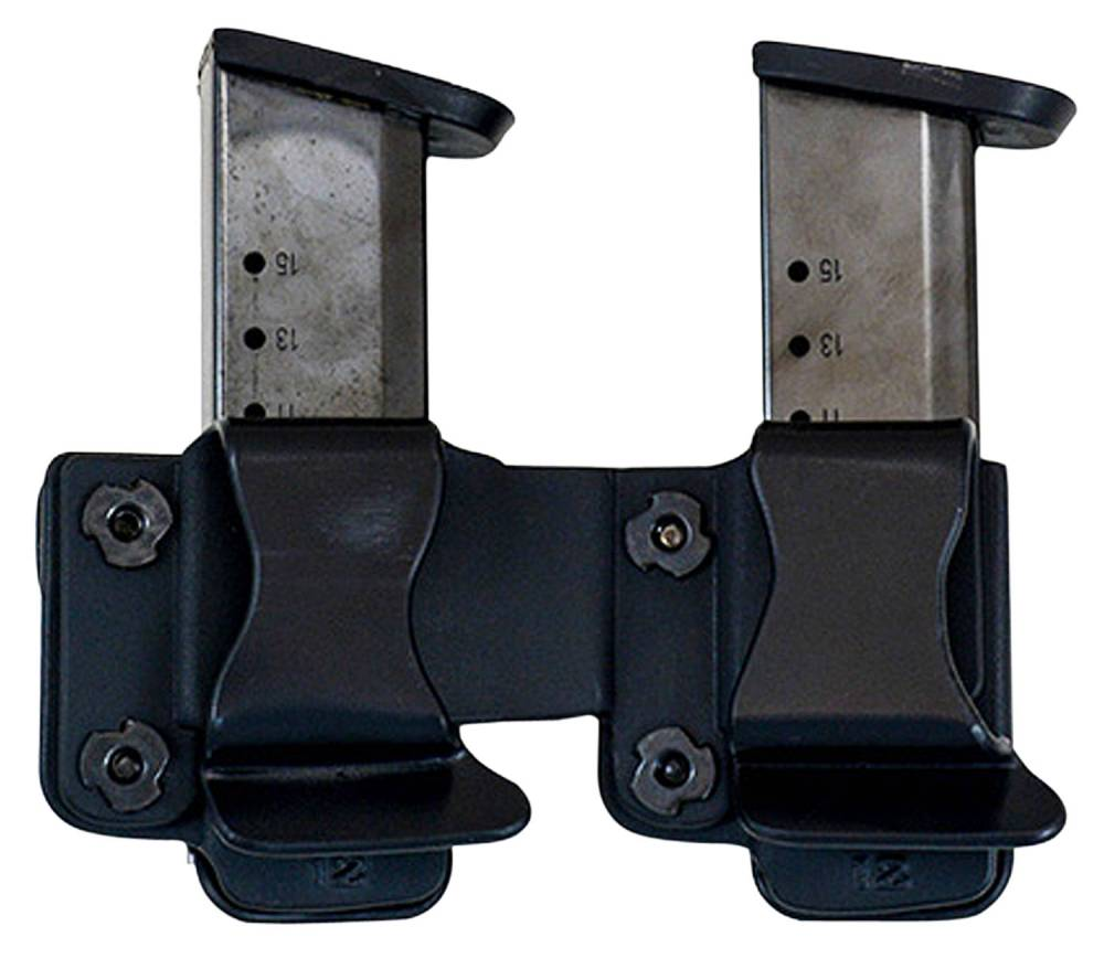 Comp-Tac Twin Mag Pouch Fits Beretta 92,96 9mm Luger/40 S&W Kydex Black