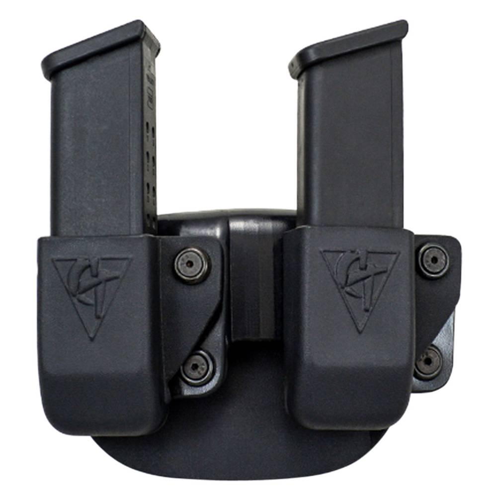 Comp-Tac Twin Mag Pouch Paddle Fits Beretta 92,96 9mm Luger/40 S&W Kydex Black