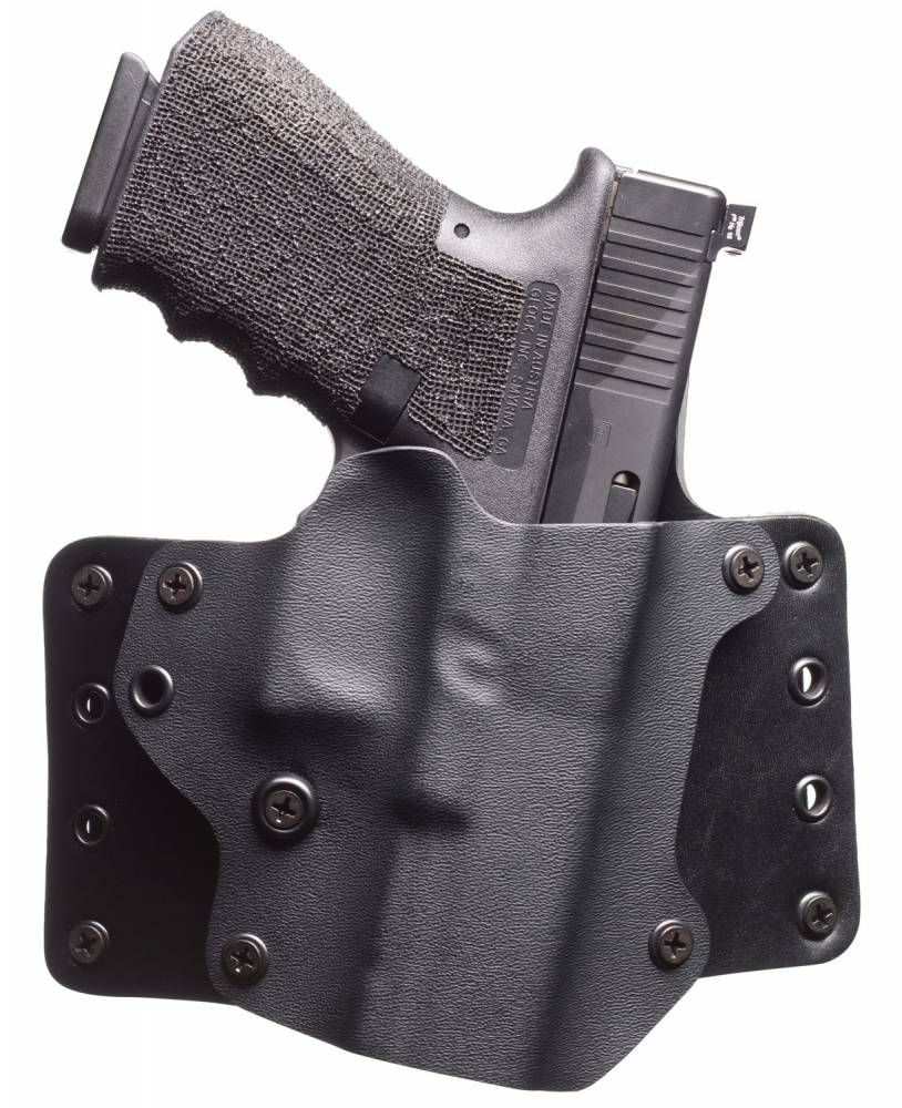 BlackPoint 101756 Leather Wing OWB Compatible with Glock 42 Kydex/Leather Black