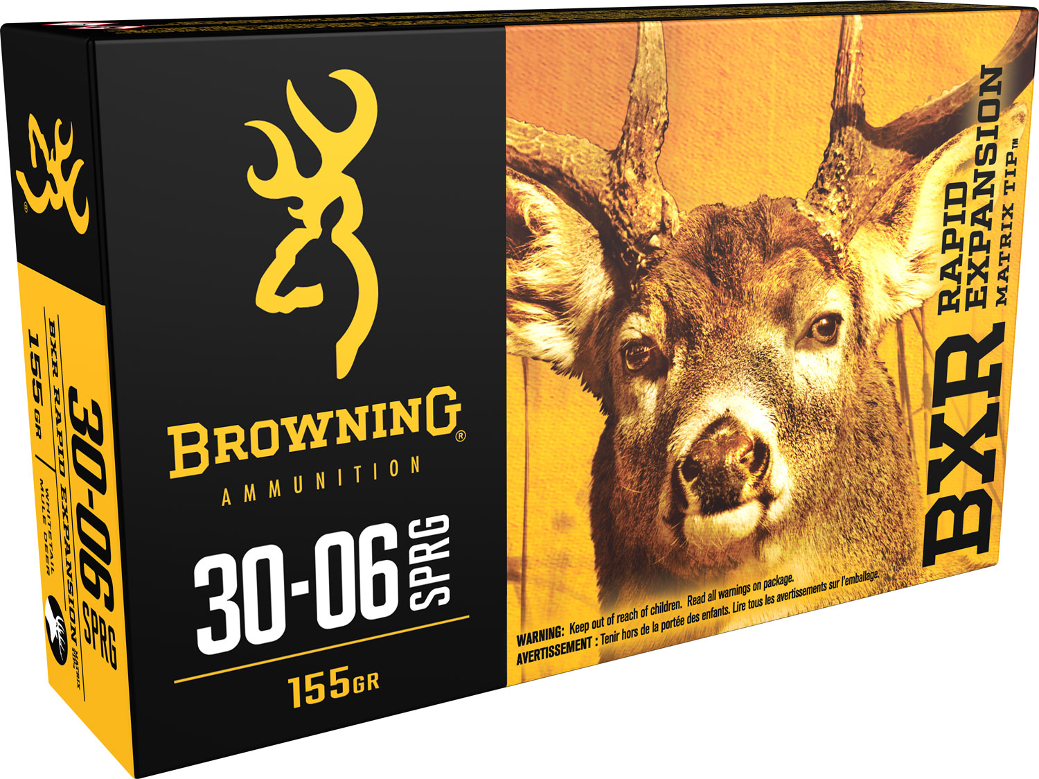 Browning Ammo BXR Rapid Expansion 30-06 Springfield 155 GR Matrix Tip 20 Bx/ 10 Cs
