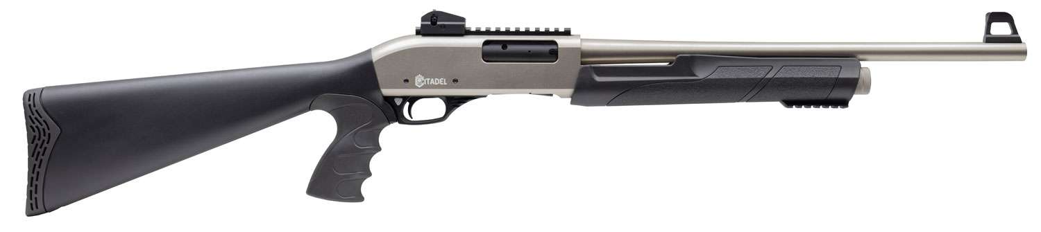 """Citadel FRPAT1220NKL CDA 12 Force 12 Gauge 20"""" 3+1 3"""" Silver Marinecote Black Synthetic Stock Right Hand"""