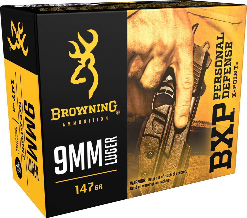 Browning Ammo BPX X-Point 9mm Luger 147 GR HP 20 Bx/ 10 Cs