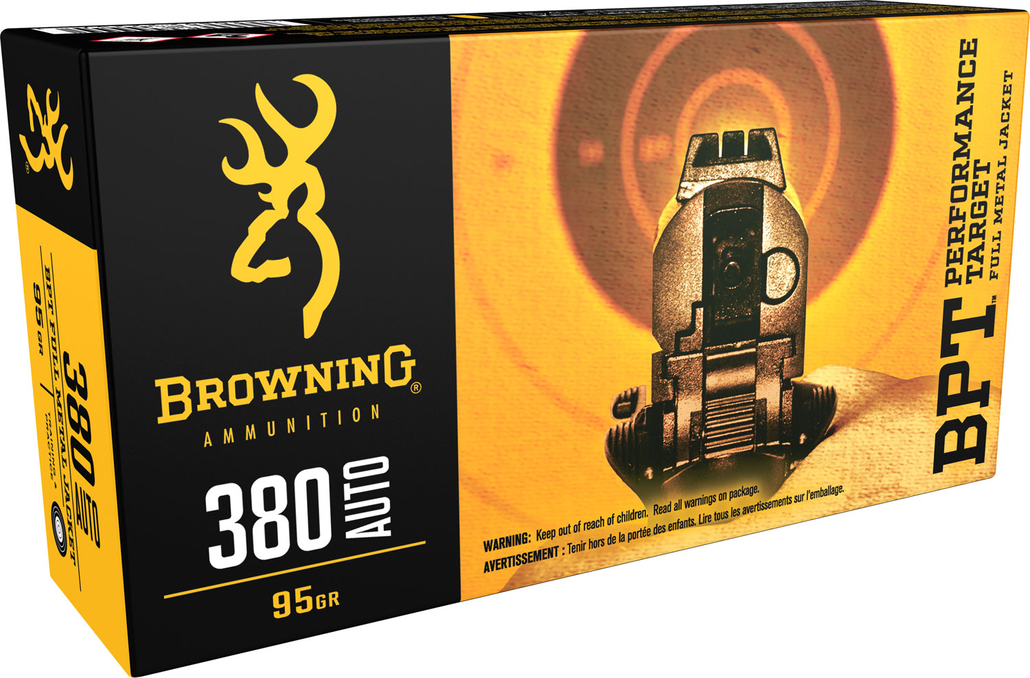 Browning Ammo BPT Performance 380 ACP 95 GR FMJ 50 Bx/ 10 Cs