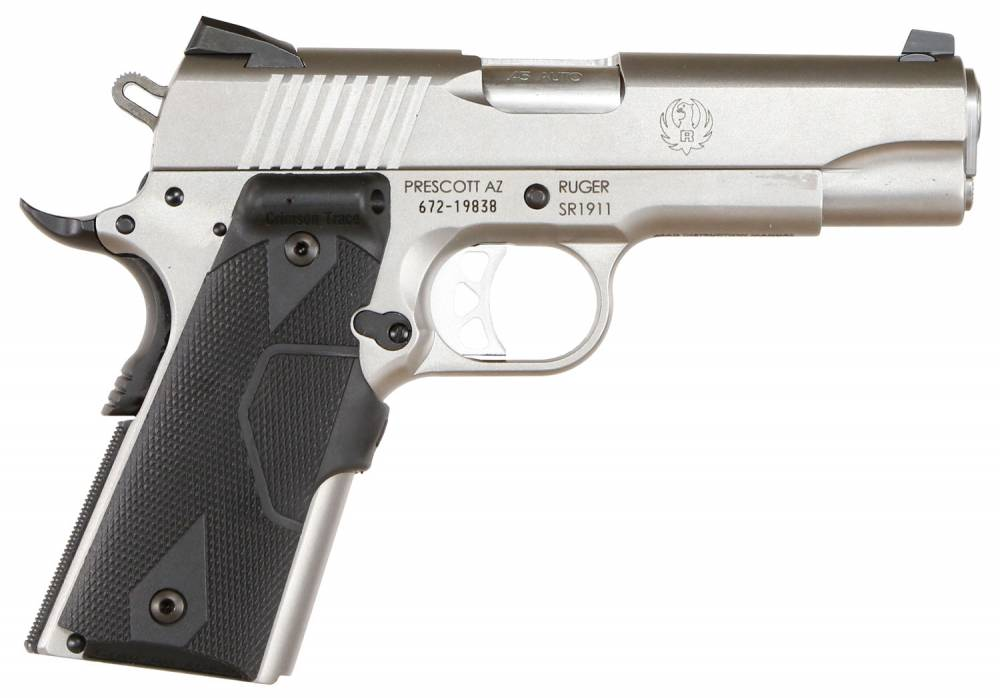 Ruger SR1911 Commander Single 45 Automatic Colt Pistol (ACP) 4.25