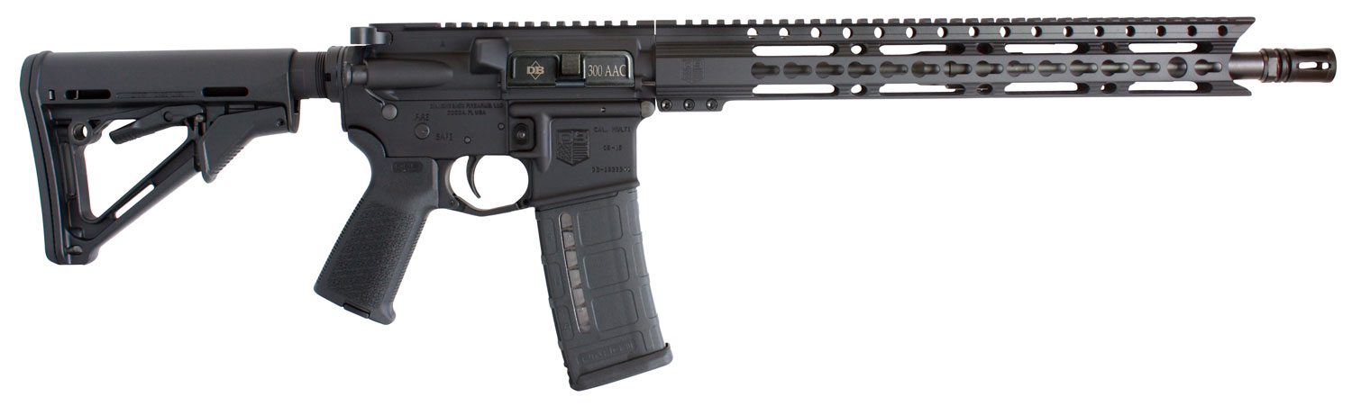 Diamondback DB15 Elite with Keymod Rail Semi-Automatic 300 AAC Blackout/Whisper (7.62x35mm) 16