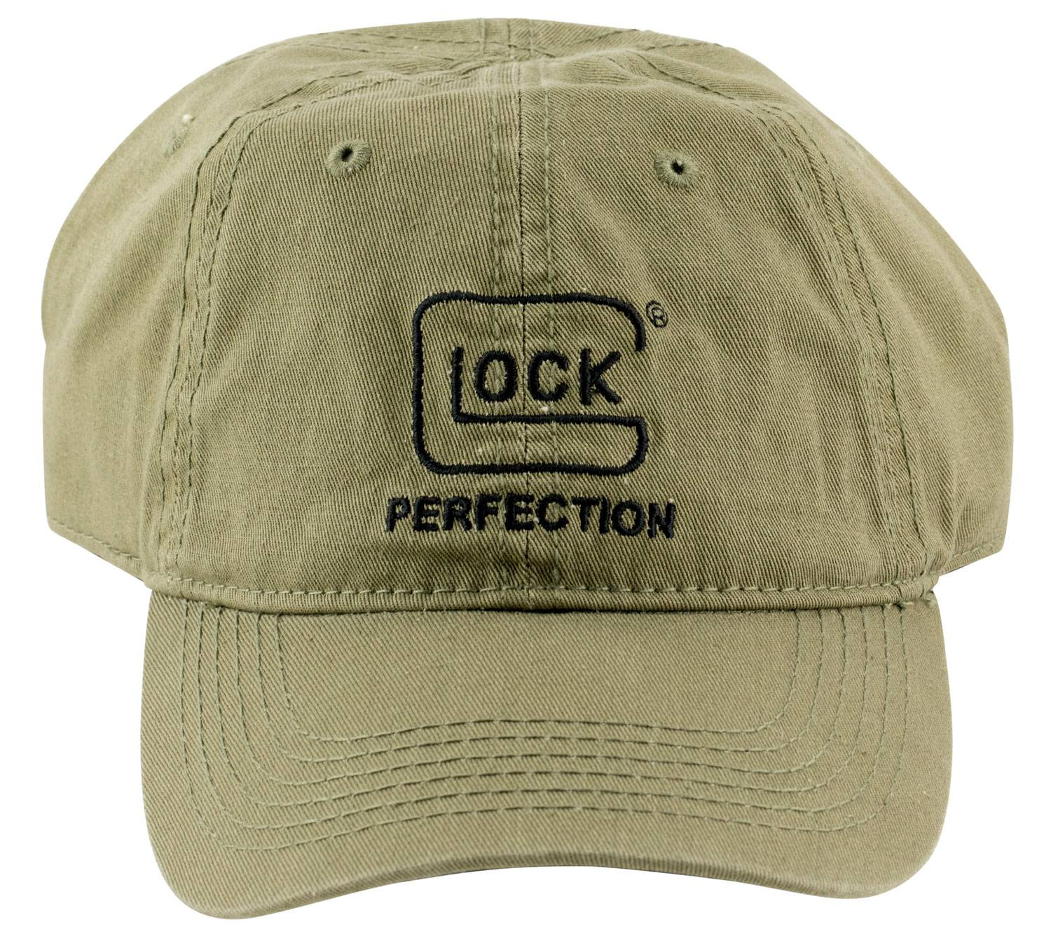 Glock Perfect Unstructured Chino Hat Sports Cap Cotton Adjustable Olive Drab