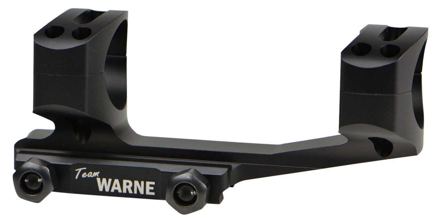 Warne 1-Pc Base & Ring Combo For AR Rail Mount Style Black Matte Finish