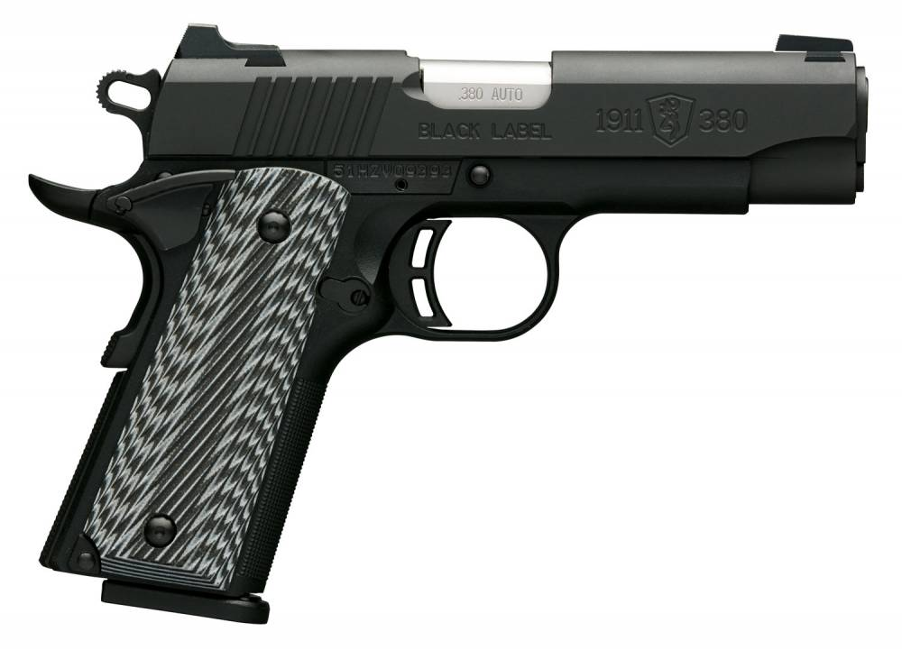 Browning 1911-380 Black Label Pro Compact Single 380 Automatic Colt Pistol (ACP) 3.625