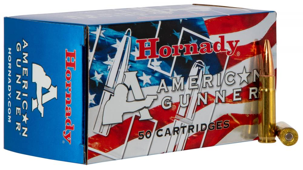 Hornady American Gunner 300 AAC Blackout/Whisper (7.62x35mm) 125 GR Hollow Point 50 Bx/ 10 Cs